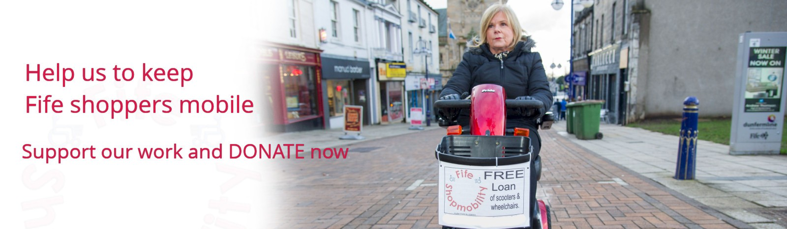Donate to Shopmobility Fife